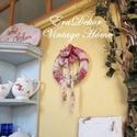 Madaras koszorú-AZONNAL ELVIHETŐ, Dekoráció, Otthon, lakberendezés, Baba-mama-gyerek, Dísz, Romantikus ajtódísz, Rózsás vintage koszorú, ajtókopogtató. Vidéki hangulatú lakásdekoráció.  A laká..., Meska