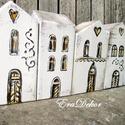 Vintage pénzrejtő ház , Baba-mama-gyerek, Otthon, lakberendezés, Esküvő, Dekoráció, Fából készült ház,  például esküvőre, karácsonyra. Antikolt fehér színben. Aljába lehet rejteni az ö..., Meska