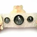 Fekete  cicás szett 2, Ékszer, óra, Ékszerszett, Ékszerkészítés, A karkötő rugós zsanérral van ellátva mely a szétnyitás után visszazárja a karperecet. A gyűrű alapj..., Meska