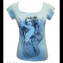 Sellős póló (L-es, világoskék), Ruha, divat, cipő, Női ruha, Felsőrész, póló, Mindenmás, Ha kedveled a szép és rejtélyes mitológiai teremtményeket, akkor ez a póló igazán neked való! Egy k..., Meska