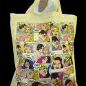 Képregényes vászontáska (törtfehér), Táska, Szatyor, Mindenmás, Ez a táska a képregényes pólóm (http://meska.hu/ProductView/index/362476) párja. Mintája úgy szület..., Meska