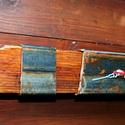 Asztali/Fali SteamPunk Óra 4, Otthon, lakberendezés, Férfiaknak, Falióra, Steampunk ajándékok, Famegmunkálás, Fémmegmunkálás, Kb. 60 éves bontott fa gerendából némi vasból jó szivvel készített időmérő szerkezet...asztalon is ..., Meska