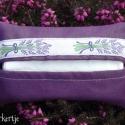 Levendulás papírzsebkendő tartó táskába, Táska, Pénztárca, tok, tárca, Zsebkendőtartó, Egyszerű, csinos kis úti papírzsebkendő tartók táskába. Színben harmonizáló béléssel, levendulás szö..., Meska