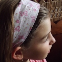 Textil hajpánt kislányoknak, Ruha, divat, cipő, Hajbavaló, Hajpánt, Pamutvászonból varrott, gumis hajpántok. Nagycsoportos és általános iskolás korú lányoknak ajánlom e..., Meska