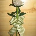 Rózsaszál gyöngyből, Dekoráció, Otthon, lakberendezés, Dísz, Gyöngyfűzés, Virágkötés, Kása  gyöngyből készült rózsa.  Virág, ami sosem hervad el!  Kedves ajándék lehet nőnapra, anyák na..., Meska