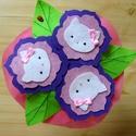 Hello Kitty-s virágcsokor kislányoknak, Baba-mama-gyerek, Dekoráció, Játék, Mindenmás, Virágkötés, Barkácsfilcből készült egyedi tervezésű virágcsokor, Hello Kitty fejecskékkel. A szemek és orrok gy..., Meska