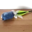 Farmer tulipán szálak - kék, Dekoráció, Húsvéti apróságok, Varrás, Virágkötés, Állítsd össze saját csokrodat!  Tulipán szálak darabra.  Különböző kék színű farmer anyagból készül..., Meska