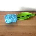 Tulipán szálak textilből - kék, Dekoráció, Húsvéti apróságok, Varrás, Virágkötés, Állítsd össze saját csokrodat!  Tulipán szálak darabra.  Textilből, pamutvászonból készült tulipán ..., Meska