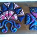 Illatos búzazsákocskák ívekkel, lilás-kékekkel (26db), Játék, Bútor, Készségfejlesztő játék, Babzsák, Varrás, Újrahasznosított alapanyagból készült termékek, A búzazsákok készítésekor 100%-ban pamut anyagokat használtam, amelyek Jáváról, Törökországból és G..., Meska