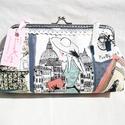 Párizs- pénztárca., Táska, Pénztárca, tok, tárca, Varrás, Mindenmás, Minőségi pamutvászonból készült pénztárca, boríték táska.  Tárca keret 15 cm. Magasság: 10cm. Széle..., Meska