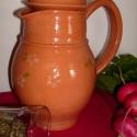 Teáskancsó 1,6 dl --- Gyógynövény -  és Gyümölcstea készítéséhez, Konyhafelszerelés, Mindenmás, Bögre, csésze, Kerámia, Mindenmás, Családi szűrőbetétes Kancsó. Télen Gyógynövényteák (+fekete tea készítéséhez) Nyáron pedig jeges Gy..., Meska