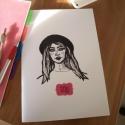 LILY // A4-es méretű sima füzet, Képeslap, album, füzet, Jegyzetfüzet, napló, naptár, Fotó, grafika, rajz, illusztráció, TERMÉKLEÍRÁS:  * méret - A4 * tűzött * borító - puhafedeles / 250 gsm * belívek - 100 oldal üres la..., Meska