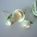 12 db Cupcake / Muffin / Süti Dísz, Rózsás, Születésnapra, Dekoráció, Esküvő, Ünnepi dekoráció, Esküvői dekoráció, Papírművészet, Kézzel készített Cupcake / Muffin / Süti Díszek Rózsák (több színben)  Tökéletes kiegészítő lehet e..., Meska