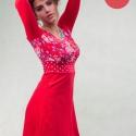ruha virágos- FLOWER RED, Ruha, divat, cipő, Női ruha, Ruha, Varrás, Ez a szép ruha rugalmas vékony pamutanyagból készült, elasztikusságának köszönhetően nagyon kényelm..., Meska