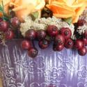 Őszi színes kosár, Dekoráció, Otthon, lakberendezés, Dísz, Kaspó, virágtartó, váza, korsó, cserép, Virágkötés, Narancs-lilás bordó színű lett a két füles fém kaspóba kötött kompozíció. Az ősz hangulatát keltik ..., Meska