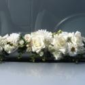 Többfunkciós esküvői dísz, Esküvő, Esküvői dekoráció, Virágkötés, Elsősorban autódíszítésre készült de felhasználható asztal eleje-széle vagy ajtó dekorálására is. Az..., Meska