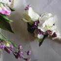 Lizike menyasszonyi csokor, Esküvő, Esküvői csokor, Virágkötés, A Vintage stílus jegyében született ez a csepp formájú csokor, teljesen élethű lizianthusz, tulipán..., Meska