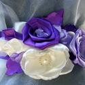 Levendula színű öv, Esküvő, Hajdísz, ruhadísz, Menyasszonyi ruha, Virágkötés, Varrás, Szaténból,organzából és gyöngyből készítettem ezt a díszövet. Megrendelésre készült,ha hasonló övet..., Meska