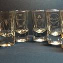 Avengers Bosszúállók  Szuperhős 6 db-os pálinkás pohár készlet (férfi, ajándék, marvel), Mindenmás, Férfiaknak, Sör, bor, pálinka, Üvegművészet, Marvel Avengers Bosszúállók figurákkal, szuperhősök, kézi gravírozott 6 db-os pálinkás pohár szett...., Meska
