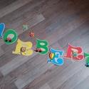 NORBERT - Bababetű, Baba-mama-gyerek, Dekoráció, Otthon, lakberendezés, Gyerekszoba, Mindenmás, Festészet, Dekorgumiból készűlt, akril festékkel díszítve.  Mérete 11 cm  Hátoldalán ragasztóval.  A név ára 1..., Meska