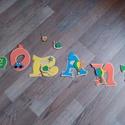LÓRÁNT- Bababetű, Baba-mama-gyerek, Dekoráció, Otthon, lakberendezés, Gyerekszoba, Mindenmás, Festészet, Dekorgumiból készűlt, akril festékkel díszítve.  Mérete 11 cm  Hátoldalán ragasztóval.  A név ára 1..., Meska