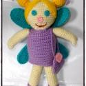 Lola a titoktündér-horgolt amigurumi baba, Baba-mama-gyerek, Játék, Baba-mama kellék, Baba, babaház, Horgolás, Lola a titoktündér-horgolt amigurumi baba  Saját egyedi minta alapján készült.  Mérete: kb 30 cm.   , Meska
