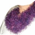 Szőrmók tavaszi effekt  körsál, Ruha, divat, cipő, Kendő, sál, sapka, kesztyű, Sál, Női ruha, Kötés, Könnyed puhasággal óv ez a lila árnyalatos körsál,vagy nyakmelegítő. A fény játékának hatására a sz..., Meska