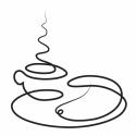 Kávé kiflivel - egyvonalas falmatrica, Dekoráció, Otthon, lakberendezés, Falmatrica, Falikép, Fotó, grafika, rajz, illusztráció, Falmatrica kávéval és kiflivel, konyhába ajánlom. A mintának az az érdekessége, hogy egyetlen folya..., Meska