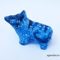 kék macska AKCIOS!, Dekoráció, Otthon, lakberendezés, Baba-mama-gyerek, Dísz, 1 db agyag dekoracio.  kb 4.5 cm magas, 6 cm hosszu.  ajanlottan postazom. , Meska