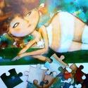 PUZZLE, Képzőművészet, Mindenmás, Illusztráció, A kepen lathato illusztraciombol keszult puzzle. Meret - A4.  ajanlottan postazom, Meska