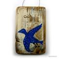 Kék madár, Dekoráció, Otthon, lakberendezés, Képzőművészet, Falikép, egyedi rusztikus fa dekoracio. falra akaszthato. kb. 15x10cm + akaszto.  ajanlottan postazom. , Meska