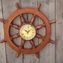 """Falióra \""""Hajókormány\"""", Otthon, lakberendezés, Esküvő, Férfiaknak, Falióra, Az idő múlását bármelyik óra képes mutatni, de melyik juttatja eszébe azt a kellemes érzést, amely p..., Meska"""