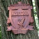 Liverpool címer - faragott falidísz, Dekoráció, Otthon, lakberendezés, Férfiaknak, Falikép, Liverpool címer - faragott falidísz  Liverpool FC. Nagy nevű csapat.  Nevükhöz méltó címerrel, mely ..., Meska