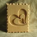 Kekszmintázó sütinyomda sütipecsét, Konyhafelszerelés, Famegmunkálás, Kekszmintázó sütinyomda sütipecsét (Szív)   Mérete: 6 cm x 4,6 cm  Bükkfából készítem.  Készletben ..., Meska