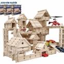 4 cs.  LOGI-VÁR natúr fa építőjáték (344 elem), Baba-mama-gyerek, Játék, Gyerekszoba, Készségfejlesztő játék, Famegmunkálás, Mindenmás, Profi építészeknek otthoni játékra és óvodai csoportok részére javasolt mennyiség. LOGI-VÁR építőjá..., Meska