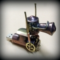Steampunk-lokomotv pendrive, Frfiaknak, Mindenms, Furcsasgok, tvs, ,, Annak idejn Stephenson kapta ezt a pendrive-ot a felesgtl karcsonyra, ez ihlette a gzmozdon..., Meska