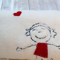 Pöttyös lány -  babatakaró, Baba-mama-gyerek, Gyerekszoba, Falvédő, takaró, Varrás, Lány babáknak készült ez a vidám, pöttyös ruhás kislány takaró.   A takaró anyaga öko - tex, gyorsa..., Meska