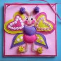 Polly a pillangó falikép , Baba-mama-gyerek, Gyerekszoba, Baba falikép, Varrás, Kedves Látogatóm! Tekintsd meg ezt a 3d-s pillangós faliképet,ami saját tervezésű,kézzel készült ter..., Meska