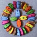 Mini francia csatt, Ruha, divat, cipő, Hajbavaló, Hajcsat, Hímzés, Varrás, Mini francia csatt hímzett filc díszítéssel, sok sok színben.   mérte 2x4 cm, Meska
