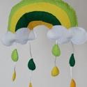 Mini szivárvány zöld / sárga - Ablakdísz - Függő dísz babaszobába, Baba-mama-gyerek, Gyerekszoba, Baba falikép, Mobildísz, függődísz, Varrás, Babaszoba - gyerekszoba dekorációként, ablakdíszként, ajtódíszként, fali díszként is nagyon jól mut..., Meska