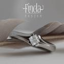 Princess gyűrű fehér cirkóniával , Esküvő, Ékszer, óra, Esküvői ékszer, Gyűrű, Ötvös, Nemesacél gyűrű fehér cirkóniával. A gyűrű 3 mm széles, a kő 4X4 mm princess / négyzet csiszolású. ..., Meska