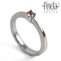 Soliter - Nemesacél gyűrű turmalinnal, Ékszer, óra, Esküvő, Gyűrű, Esküvői ékszer, Ötvös, Fémmegmunkálás, Soliter gyűrű. A soliter elnevezést az egyköves gyűrű jelölésére szokták használni ékszerész körökb..., Meska
