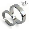 Leaf - Nemesacél karikagyűrűpár vésett mintával , Esküvő, Esküvői ékszer, Ötvös, Nemesacél karikagyűrűpár egymáshoz kapcsolódó levél mintával. A férfi gyűrű szélessége 5 mm. A férf..., Meska