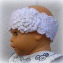 Hófehér hajpánt, Ruha, divat, cipő, Hajbavaló, Hajpánt, Horgolás, A fehér hajpánt megrendelhető bármilyen méretben. Ez 6 cm széles, 42 cm bő, ami 50 cm-ig bővül. Tav..., Meska
