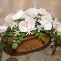 Modern asztalidísz, Dekoráció, Otthon, lakberendezés, Dísz, Kaspó, virágtartó, váza, korsó, cserép, Virágkötés, Ez az asztalidísz egyaránt jól mutat hálószobában, nappaliban, étkezőben vagy fürdőszobában. A dizá..., Meska
