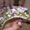 Modern, tartós menyasszonyi csokor, Esküvő, Esküvői csokor, Virágkötés, Igazán hangulatos és nagyon elegáns ez az apró boglárkákból és lepke orhideából, gyöngyökkel, dekor..., Meska