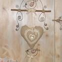 Mesebeli ajtókopogtató, Dekoráció, Otthon, lakberendezés, Dísz, Virágkötés, Ebből a szép szív alakú párnácskából tudtam hogy ajtó- vagy ablakdísz lesz, csak azt nem tudtam hog..., Meska