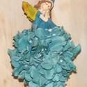 Kék jogar csokor óvodás ballagásra, Mindenmás, Virágkötés, Igazi tündérkirálylányoknak készítettem ezt a kis csokrot, selyem hortenziából, amit hungarocell go..., Meska