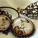 Rókás ékszerszett (gyűrű, karperec, medál), Ékszer, óra, Ékszerszett, Ékszerkészítés, Gyönyörű egyedi rókás ékszerszett, melyet a manapság oly divatos róka motívum ihletett.  Kör alakú ..., Meska