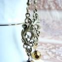Madame de Volanges, Ékszer, óra, Fülbevaló, Ékszerkészítés, Barokk szépség.  A fülbevaló hossza: 5,2 cm, akasztó nélkül. Amikből készítettem: * bronz indás ala..., Meska